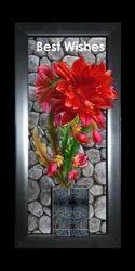 Rectangular Wood Flower Wall Hanging, Size: 230x490x20mm