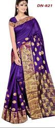 Multicolour Mkc Silk Saree Collection, 6.3 m (With Blouse Piece)