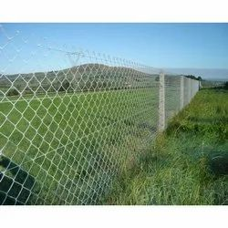 Powder Coated Silver Chain Link Fencing, For Industrial, Material Grade: Ss 316
