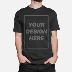 Black Mens Promotional Cotton T Shirts, Size: S-xxl, For Advertising Purpose
