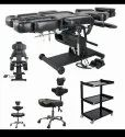 Electric Artist Tattoo Chair Combo with Stool and Trolley