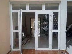 Toughened Glass Multicolor UPVC DOOR