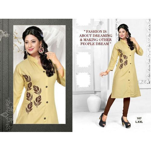 Krishna Creation Party Wear Ladies Embroidery Kurti Rs 400 Piece