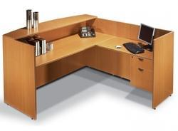 L Shape Reception Table