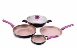 Wonderchef Royal Velvet Induction Base Aluminum Cookware Set, 5-Pieces Coproate Gifting