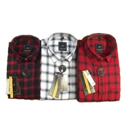 About Men Collar Neck Mens Check Cotton Shirt, Size: L-4XL