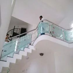 SS Handrails with Glass