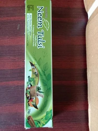 Neem Tulsi Mint Tooth Paste, Packaging Size: 75GSM
