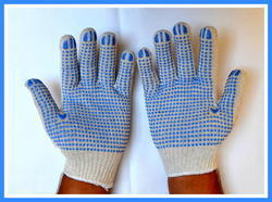 SS & WW Make White On Blue Dotted Hand Gloves 60 Gram