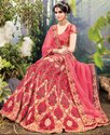 Exotic French Rose Pink Designer Lehenga Saree