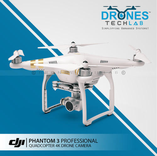 Dji Phantom 3 Drone >> Dji Phantom 3 Professional Quadcopter 4k Video Drone Camera At Rs