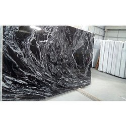 Black Silver Wave Granite