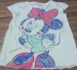 Cotton Shirts & Tops Surplus Branded Girls T Shirt