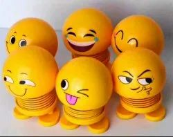 Cute Emoji Bobble Head Dolls Car Ornaments Bounce Toy