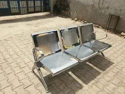 Polished Stainless Steel Railway Benches
