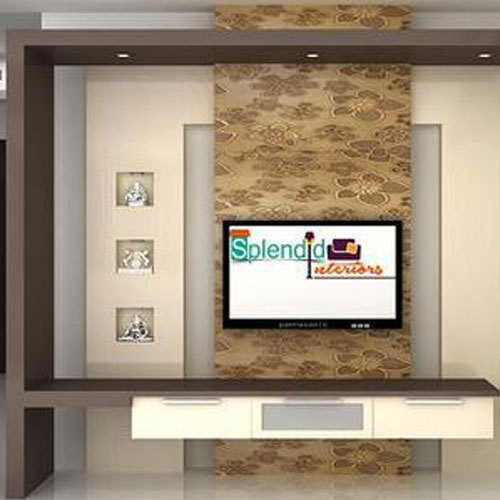 splendid interiors designer tv unit, rs 1400 square feet, splendidsplendid interiors designer tv unit