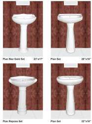 Ceramic Wash Basin Pedestal White(f G)
