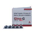 Softgel Capsules Of Ginseng With Vitamins, Minerals and Antioxidants