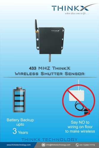 433mhz Wireless Shutter Sensor (3 Years Battery Backup)