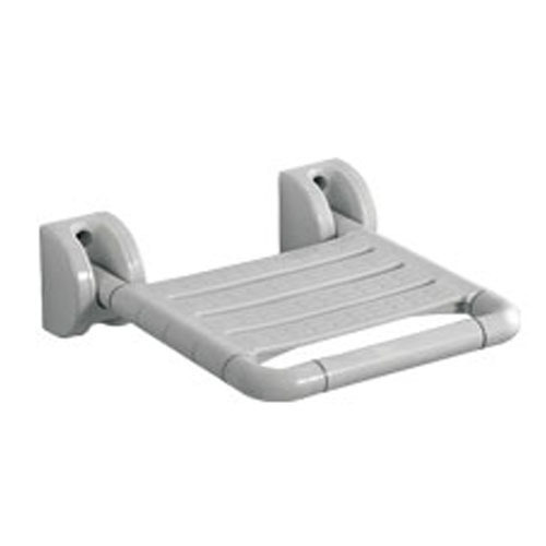 Dolphy Stainless Steel White Wall Mounted Folding Shower Seat, Size: 370 x 315 x 35 cms