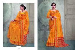 Banarasi Silk Embroidered Party Wear Saree