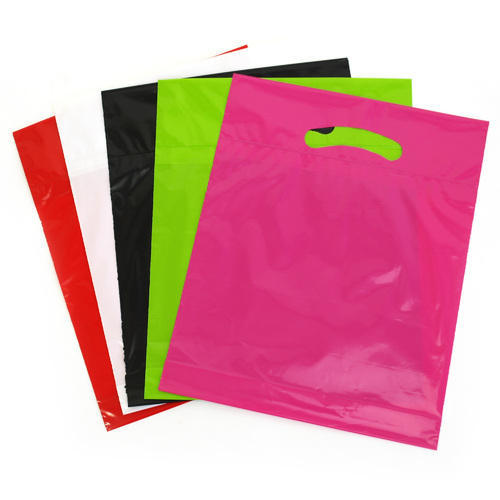 Plain HDPE Die Cut Poly Bag, for Apparel