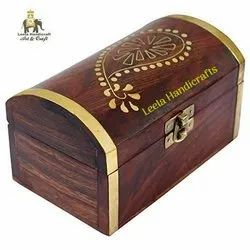 Rectangular Ash Wood Wooden Jewelry Box, Size: 10'' Inch