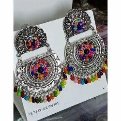 Zinc Dongle Drop Afgani Earrings