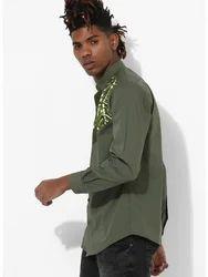 Mens Olive Clubwear Shirt