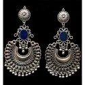 Oxidized Blue Earrings
