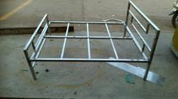 Silver Double Bed Stainless Steel Bed Frame