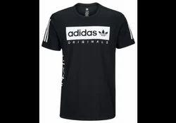 Black/white Polyester Adidas Originals Graphic T Shirt Men