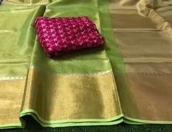 Tissue Linen Templework Sarees
