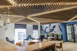 Commercial false ceiling wood
