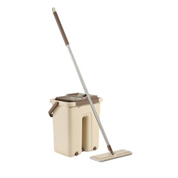 Mop & Bucket System Easily Gets Tile & Wood Floors Sparkling (D037)