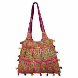Multicolor Cotton Designer Handbag