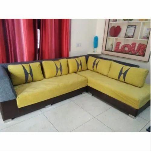 Yellow Silk Sofa Cushion Covering For