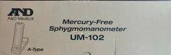 A&D Mercury free Sphygmomanometer UM-102 - Japan