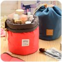Canvas Printed Round Cosmetic Bag