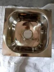 Rectangle Glossy SS Sink, Size: 16x18x7