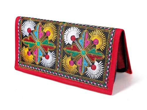 Women Traditional Hand Clutch Ladies Embroidery Wallet