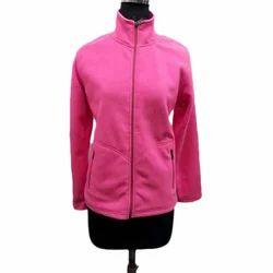 Ladies Pink Zipper Sweatshirts