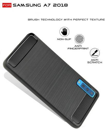 Samsung Galaxy A7 2018 Flexible Shockproof Back Case Cover