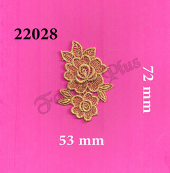 Metallic Gold Zari Patch