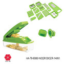 Nicer Dicer-14in1-Vegetable Slicer Chopper-HA-79