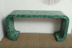 Green Quartz Side Table