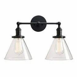 Warm White Down Glass Wall Lamp, For Decoration, 12 Watt
