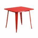 Mild Steel Woavin00104 Tolix Cafeteria Dinning Table, Shape: Rectangle