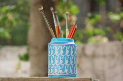 Handmade Blue Pottery Multipurpose Jars