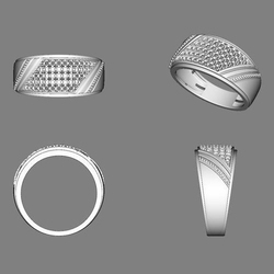 Micro Silver Gents Rings